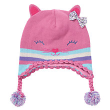 Buy John Lewis Girl Novelty Cat Trapper Hat, Pink Online at johnlewis.com
