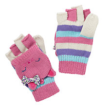 Buy John Lewis Girl Novelty Cat Flip-Top Gloves, Pink Online at johnlewis.com