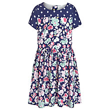 Buy Loved & Found Floral Spot Dress, Navy/Multi Online at johnlewis.com
