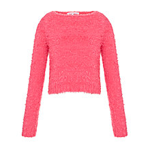Buy Loved & Found Girls' Eyelash Jumper, Coral Online at johnlewis.com