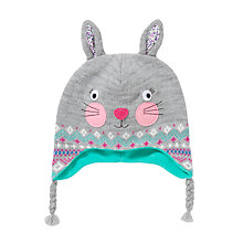 Buy John Lewis Rabbit Fair Isle Scarf, Grey/Multi Online at johnlewis.com