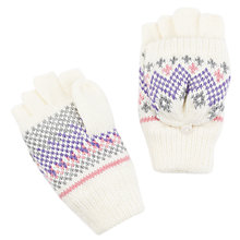 Buy John Lewis Pretty Fair Isle Fliptop Gloves, White/Multi Online at johnlewis.com