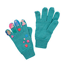 Buy John Lewis Woodland Animal Applique Gloves, Turquoise Online at johnlewis.com