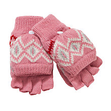Buy John Lewis Christmas Fairisle Flip-Tops Gloves, Red Online at johnlewis.com