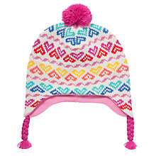 Buy John Lewis Heart Fair Isle Trapper Hat, Multi Online at johnlewis.com