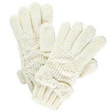 Buy John Lewis Girl Diamante Bow Gloves Online at johnlewis.com