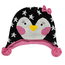 Buy John Lewis Novelty Penguin Trapper, Charcoal Online at johnlewis.com