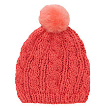 Buy John Lewis Knit Beanie Hat, Coral Online at johnlewis.com