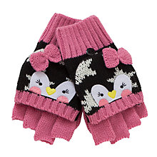 Buy John Lewis Novelty Penguin Flip-Top Gloves Online at johnlewis.com