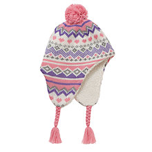 Buy John Lewis Pretty Fair Isle Trapper Hat, Multi Online at johnlewis.com