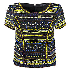 Buy Miss Selfridge Embellished Neo Geo Top, Assorted Online at johnlewis.com