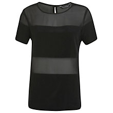 Buy Miss Selfridge Sheer And Solid T-Shirt Online at johnlewis.com