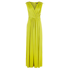 Buy Alexon Lace Trim Maxi Dress, Chartreuse Online at johnlewis.com