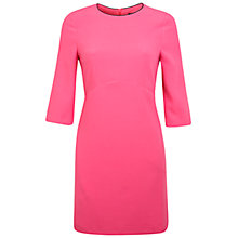 Buy Miss Selfridge Crepe Shift Dress, Rose Pink Online at johnlewis.com