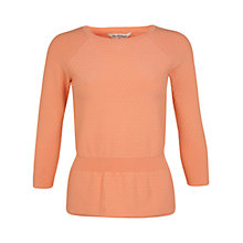 Buy Miss Selfridge Peplum Jumper, Peach Online at johnlewis.com