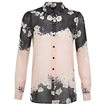 Buy Miss Selfridge Border Printed Shirt, Assorted Online at johnlewis.com