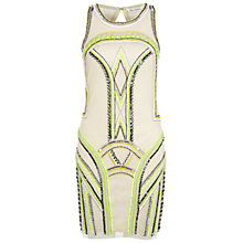 Buy Miss Selfridge Embellished Dress, Cream Online at johnlewis.com