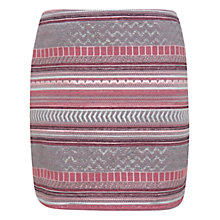 Buy Miss Selfridge Jacquard Mini Skirt, Pink Online at johnlewis.com