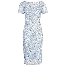 Buy Alexon Lace Dress, Light Blue Online at johnlewis.com