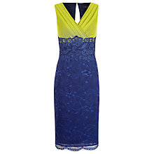 Buy Alexon Lace and Chiffon Dress, Multi/Blue Online at johnlewis.com