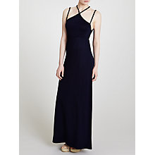 Buy John Lewis Braid Maxi Beach Dress, Navy Online at johnlewis.com