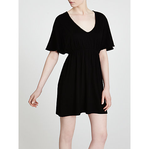 Buy John Lewis Pompom Kaftan, Black Online at johnlewis.com