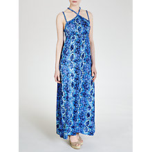 Buy John Lewis Braid Maxi Beach Dress, Blue Lizard Print Online at johnlewis.com