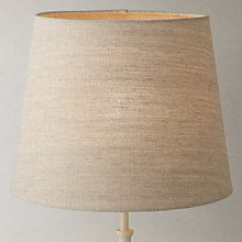 Buy John Lewis Louise Premium Linen Taper Drum Shade, Natural Online at johnlewis.com