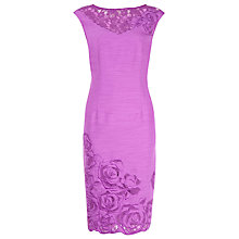 Buy Alexon Lace Embellished Dress, Violet Online at johnlewis.com