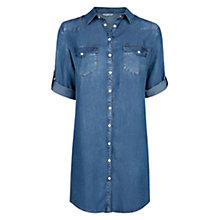Buy Mango Tencel Shirt Dress, Medium Blue Online at johnlewis.com