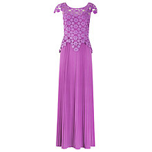 Buy Alexon Lace Detail Maxi Dress, Violet Online at johnlewis.com
