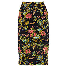 Buy Oasis Butterfly Blossom Print Skirt, Multi Black Online at johnlewis.com