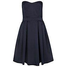 Buy French Connection Techno Princess Strapless Flared Dress, Utility Blue Online at johnlewis.com