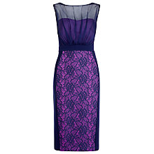 Buy Alexon Lace and Chiffon Dress, Multi/Navy Online at johnlewis.com