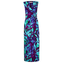 Buy Precis Petite Wrap Over Maxi Dress, Multi Dark Online at johnlewis.com