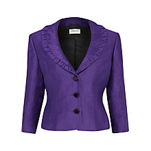 Buy Precis Petite Linen Blend Crinkle Jacket, Light Purple Online at johnlewis.com