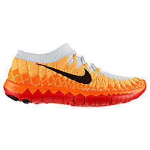 Buy Nike Free 3.0 Flyknit Women's Running Shoes, Atomic Mango/Total Orange Online at johnlewis.com
