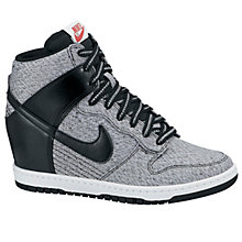 Buy Nike Dunk Sky Hi Mesh Wedge Trainers, Grey Online at johnlewis.com