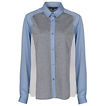 Buy French Connection Pinnie Stripe Long Sleeve Shirt, Blue Online at johnlewis.com
