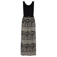 Buy Oasis 2 in 1 Paisley Maxi Dress, Black/White Online at johnlewis.com