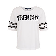 Buy French Connection Fast Fresh T-Shirt, White / Black Online at johnlewis.com