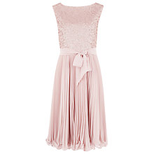 Buy Kaliko Beaded Bodice Prom Dress, Pink Online at johnlewis.com