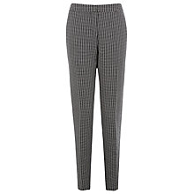 Buy Planet Monochrome Check Trousers, Black/White Online at johnlewis.com