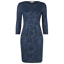 Buy Kaliko Rose Jacquard Dress, Blue Online at johnlewis.com