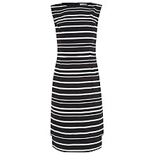 Buy Kaliko Stripe Double Layer Dress, Black Online at johnlewis.com