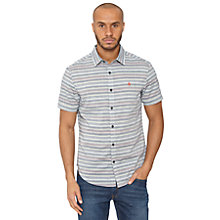 Buy Original Penguin Short Sleeve Tide Stripe Woven Shirt, Dress Blues Online at johnlewis.com