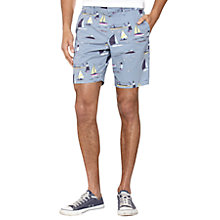 Buy Original Penguin Sailboat Print Shorts, Light Grey Online at johnlewis.com