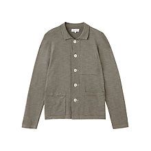 Buy Jigsaw Cotton & Linen Knitted Workwear Jacket, Washed Navy Online at johnlewis.com