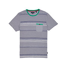 Buy Ted Baker Gervey Knitted T-Shirt, Navy/White Online at johnlewis.com