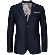 Buy Ted Baker Breek Herringbone Linen Jacket, Navy Online at johnlewis.com